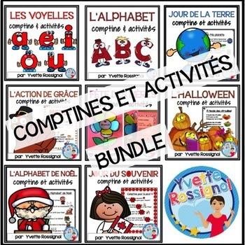 Bundle (8 comptines et activités) Ateliers, 1er cycle, Fre