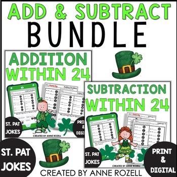 Bundle-Addition/ Subtraction Practice with St. Patrick's D