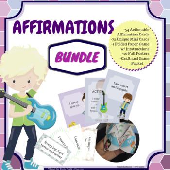 {Bundle} Affirmations for Kids - 39 PAGES!