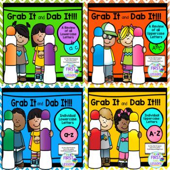 Bundle: Alphabet Grab It and Dab It Series
