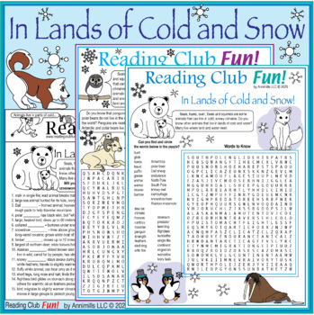 Bundle: Animals in Lands of Ice and Snow Two-Page Activity