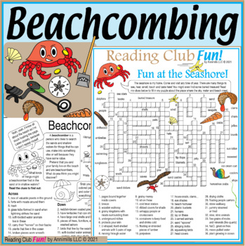 Bundle: Beachcombing and Seashore Two-Page Activity Set an