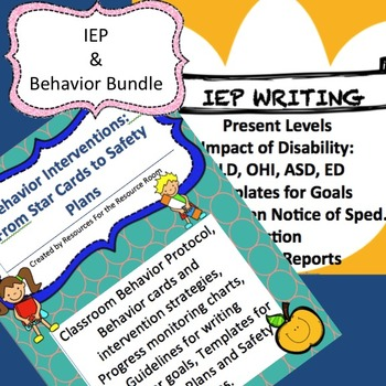 Back to School Bundle! Behavior Interventions/Plans, IEPs