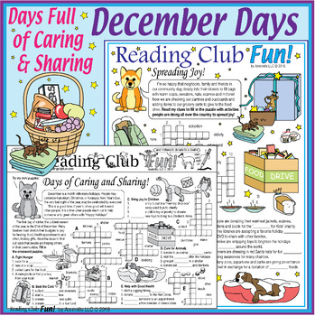 Bundle: December Holidays Activity Page and Puzzle