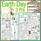 Bundle: Earth Day 3 R's Two-Page Activity Set and Crosswor