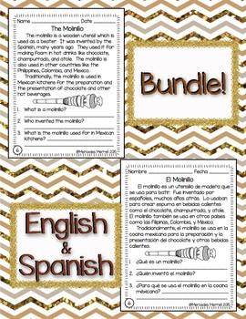 "Bundle!  English-Spanish ""What Is Chocolate?"" Informationa"