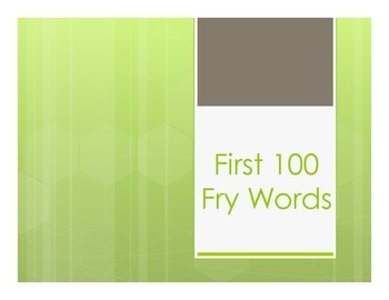 Bundle Fry Words First and Second List PP