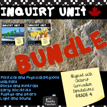 Bundle* GRADE 4 ONTARIO INQUIRY UNIT (for the whole year)