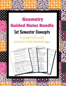 Geometry Guided Interactive Math Notebook (Bundle): 1st Se