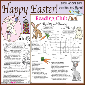 Bundle: Getting Ready Easter Two-Page Activity Set and Cro