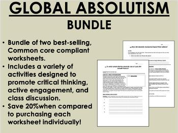 Global Absolutism Bundle - Global/World History Common Core