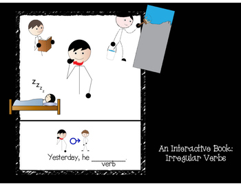 Bundle: He/She-ing & Irregular Verbs Interactive book