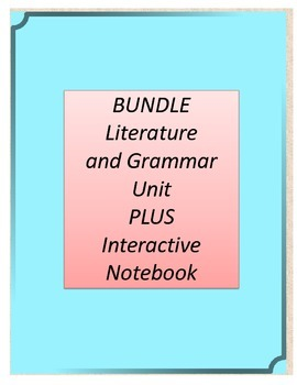 Bundle! Holes Literature and Grammar Unit AND Interactive