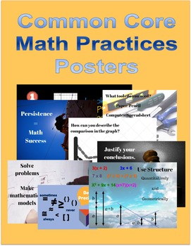 "Bundle Math Practices Posters 1-8 (24"" x 18"")"