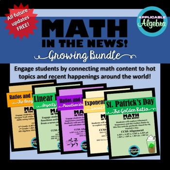 Bundle - Math in the News! - Frequent Updates for FREE!