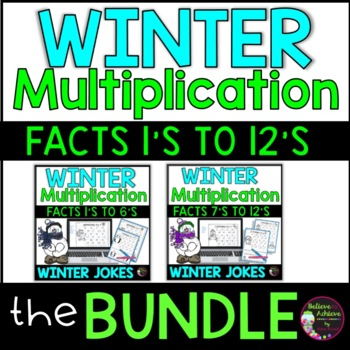 Bundle- Multiplication Fact Practice with Winter Riddles
