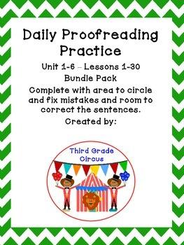 Bundle Pack Daily Proofreading / Language Practice (DLP) f