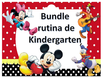Bundle Rutina Kinder - Motivo Mickey and friends