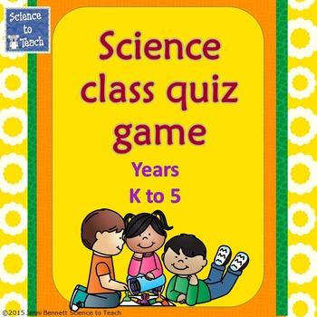 Bundle Science Quiz Game K-5