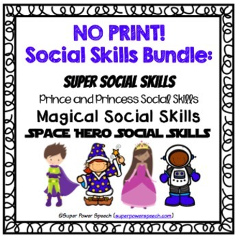 Bundle: Social Skills No Print Activities