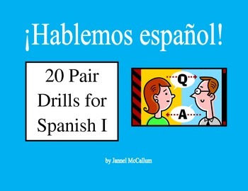 Bundle: Spanish I Pair Drills