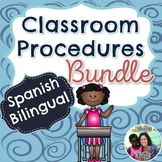 Spanish Bilingual Classroom Procedures Bundle