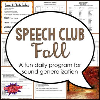 "Fall Speech Club ""L, R, S, Sh, Th"""
