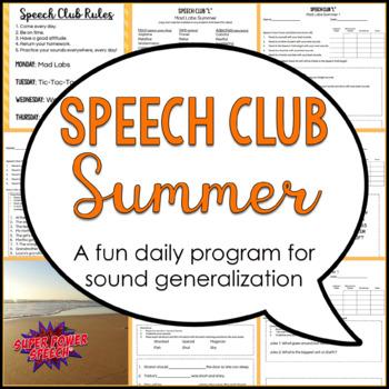 "Summer Speech Club ""L, R, S/Z, Sh, Th"""