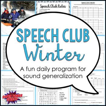 "Winter Speech Club ""L, R, S/Z, Sh, Th"""