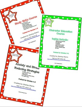 Bundle - Study Skill , Character Education , Reducing Stre