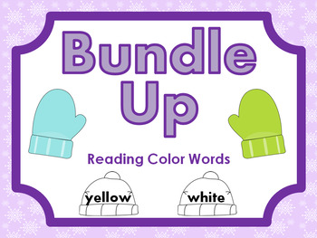 Bundle Up - Reading Color Words - File Folder Game
