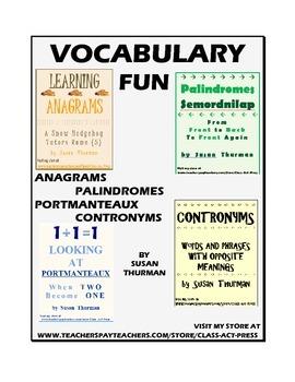 Bundle: Vocabulary Fun: Palindromes, Anagrams, Portmanteau