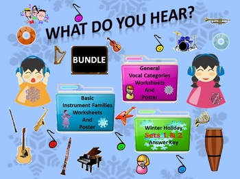 Bundle Winter Holiday Sets 1&2 Answer Keys, Worksheets, Po