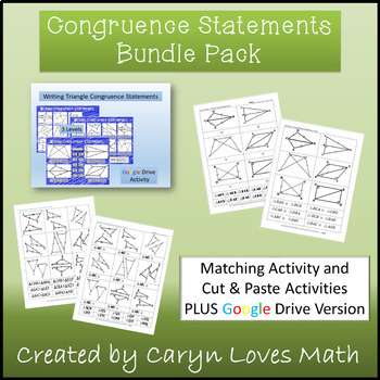 Bundle~Writing Congruence Statements~Triangles~Matching Ac