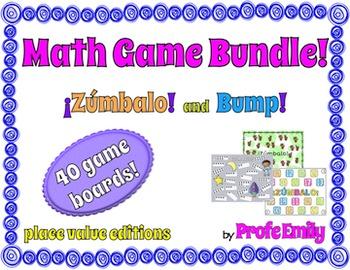 *Bundle* ¡Zúmbalo! Bilingual Bump Math Games - Place Value