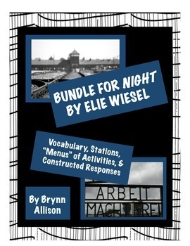 Night by Elie Wiesel - Vocabulary, Stations, Activities, C
