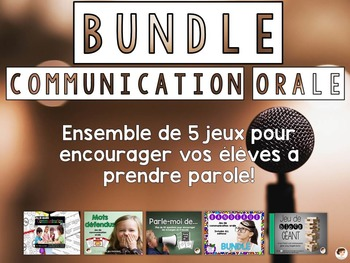 Bundle - jeux de communication orale