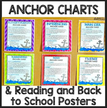 Bundle of 10 Back to School Posters and Interactive Readin