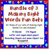 Bundle of 3 Making Sight Words Fun Sets