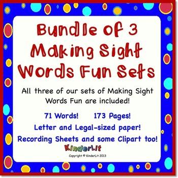 Bundle of 3 Making Sight Words Fun Sets