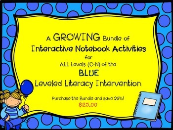 Bundle of All Level of Blue Interactive Notebook Leveled L
