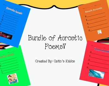 Bundle of Acrostic Poems
