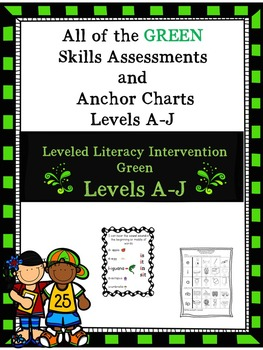Bundle of All the Green Skills Assessments and Anchor Charts