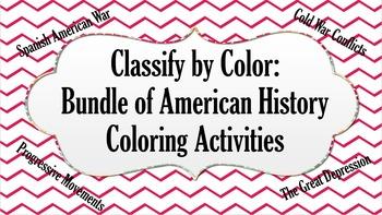 Bundle of American History Coloring Activities