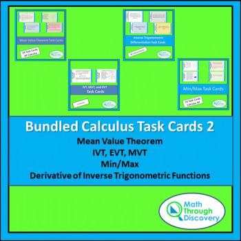 Bundle of Calculus Task Cards 2