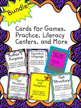 Bundle of ELA Cards for Games, Practice, Literacy Centers