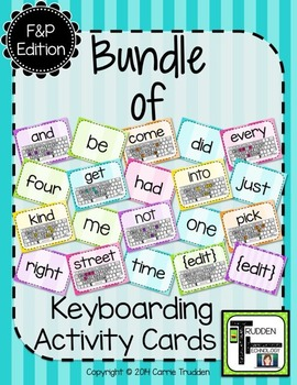{Bundle} of Keyboarding Activity Cards - Fountas & Pinnell