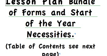 Bundle of Lesson plans and lesson plan templates