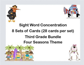 Bundle of Third Grade Sight Word Printable Concentration G