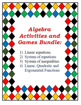 Bundle of Top Seller Algebra Resources: Equations, Systems